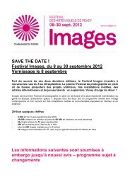 SAVE THE DATE ! Festival Images, du 8 au 30 septembre 2012 ...