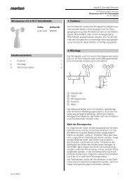 Windsensor mit 0-10 V Schnittstelle Inhaltsverzeichnis 1. Funktion 2 ...