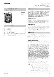 Schaltaktor REG-K/8x230 mit Handbetätigung Inhaltsverzeichnis 1 ...