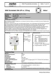 MEG6003-0001 KNX Schaltaktaktor 16A UP mit 2
