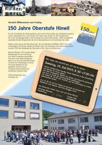 150 Jahre Oberstufe Hinwil - ZOFA
