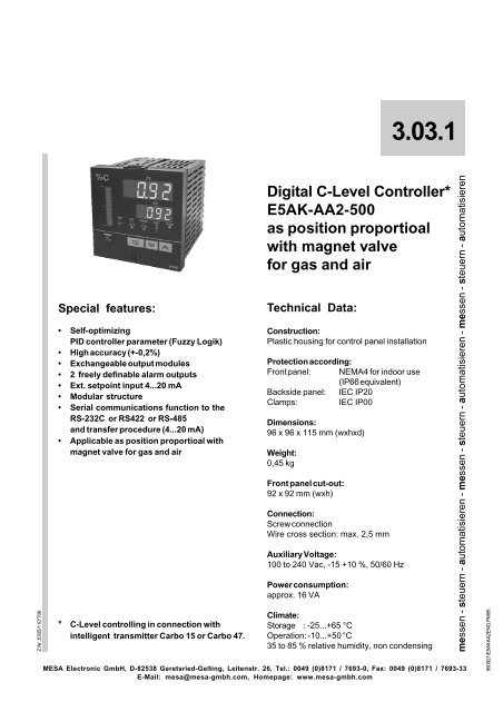 Download PDF - MESA Electronic GmbH