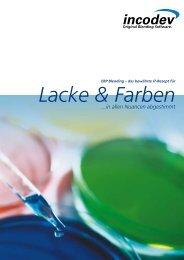 Lacke und Farben - Incodev (Schweiz) AG