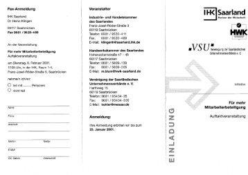 Fax-Anmeldung