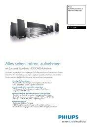 mit Surround Sound Und HDD/DVD-Aufnahme - Philips