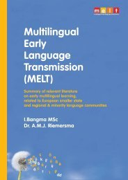 Multilingual Early Language Transmission (MELT) - Mercator ...