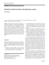 Prediction of intent in robotics and multi-agent - Imperial College ...