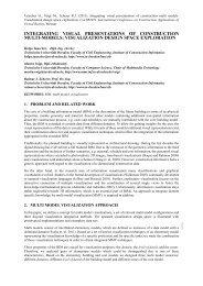 integrating visual presentations of construction multi-models - Mefisto