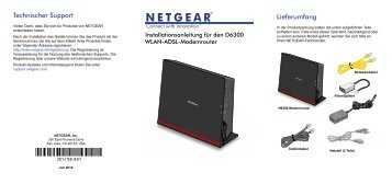 D6300 WiFi ADSL Modem Router Installation Guide Cover - Netgear