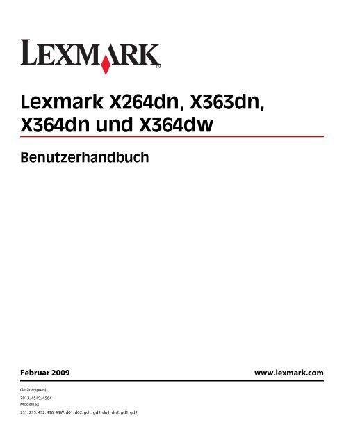Lexmark X264dn, X363dn, X364dn und X364dw - Inmac