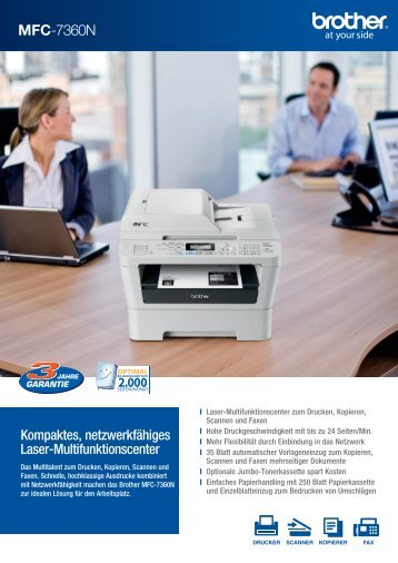 Prospekt downloaden - Drucker - Fax