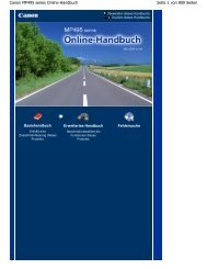 Canon MP495 series Online-Handbuch - Canon Europe