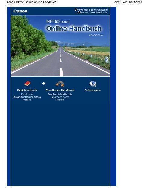 Canon MP495 series Online-Handbuch - Canon Europe