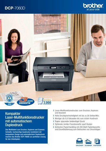 Brother DCP-7060D - Drucker - Fax