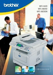Brother MFC 8420 - Datenblatt