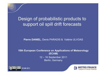 Design of probabilistic products to support oil spill ... - Copernicus.org