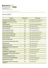 Liste der Aussteller - Messe Bremen