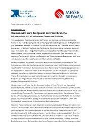 Bremen wird zum Treffpunkt der Fischbranche - Messe Bremen
