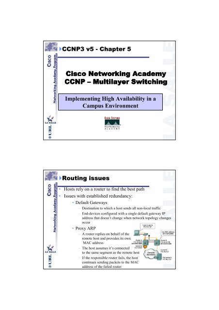 Cisco Networking Academy CCNP – Multilayer Switching Multilayer