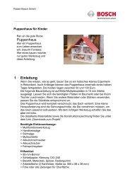 Puppenhaus 1 Einleitung - Bosch Elektrowerkzeuge für Heimwerker