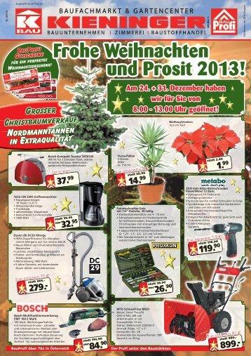 Frohe Weihnachten und Prosit 2013! Am 24. + 31. Dezember ... - DFH