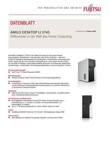 Datenblatt AMILO Desktop Li 3745 - Fujitsu