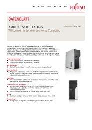 Datenblatt AMILO Desktop La 3425 - Fujitsu