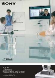 PCS-1P Multimedia Videoconferencing System