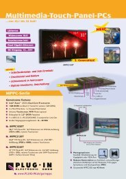Multimedia-Touch-Panel-PCs - PLUG-IN Electronic GmbH