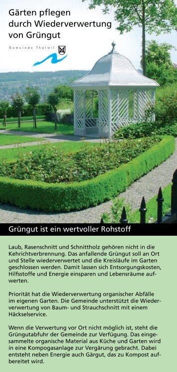 Gärten pflegen durch Wiederverwertung von Grüngut - schoch-la.ch