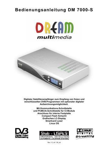 Dreambox dm 7000s manual