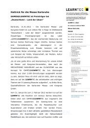 Pressemitteilung (PDF) - Karlsruher Messe- und Kongress-GmbH