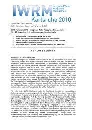 Schlussbericht IWRM (PDF) - Karlsruher Messe- und Kongress-GmbH