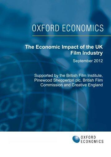 The Economic Impact of the UK Film Industry