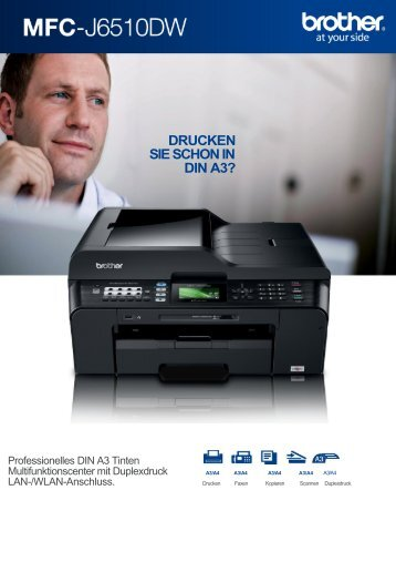 MFC-J6510DW A3 Multifunktionsdrucker Tinte von Brother