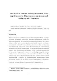 Estimation across multiple models with application to Bayesian - UCL