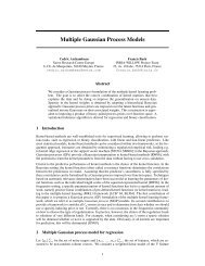 Multiple Gaussian Process Models - UCL Department of Computer ...