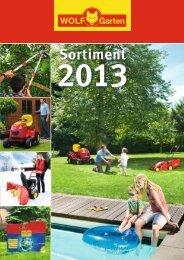 Sortimentskatalog 2013 - WOLF-Garten GmbH & Co KG