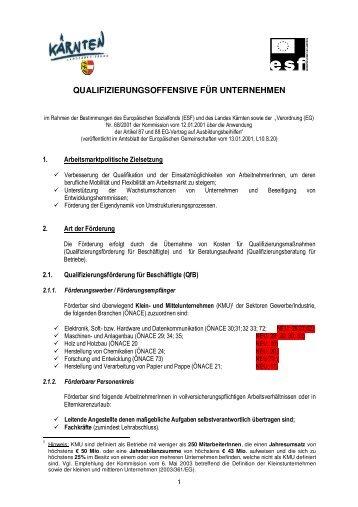 QUALIFIZIERUNGSOFFENSIVE FÜR UNTERNEHMEN - Messfeld