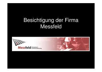 Besichtigung der Firma Messfeld
