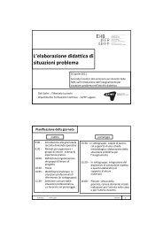 "Presentazione ""L'elaborazione didattica di situazioni problema"""