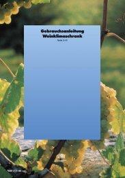 Gebrauchsanleitung Weinklimaschrank - Liebherr