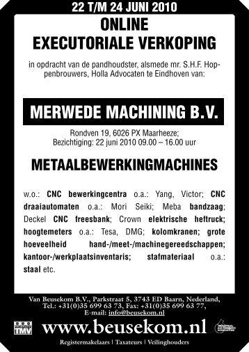 +31(0)35 699 63 77, E-mail: info@beusekom.nl www.beusekom.nl