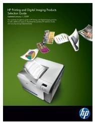 HP Printing and Digital Imaging Selection Guide (Pub