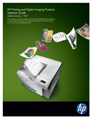 HP Printing and Digital Imaging Selection Guide (Pub