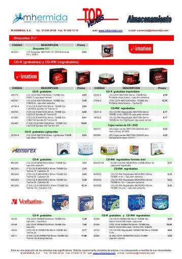 TOP-VENTAS consumibles almacenamiento MHI 2012-03