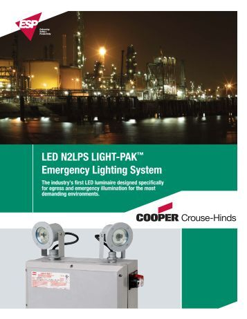 LED N2LPS Emergency Lighting System - Cooper Industries