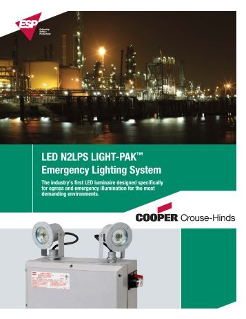 LED N2LPS Emergency Lighting System - Cooper Industries