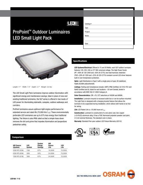 2 Ordering Guide SLP L 15