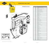 REKORD 3533, 3533S, 3533G Backpack sprayers - Mesto.de